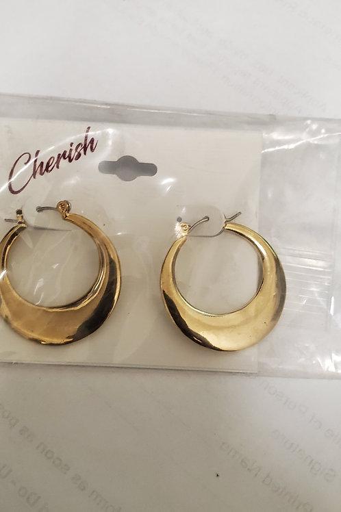 Cherish gold tone earrings