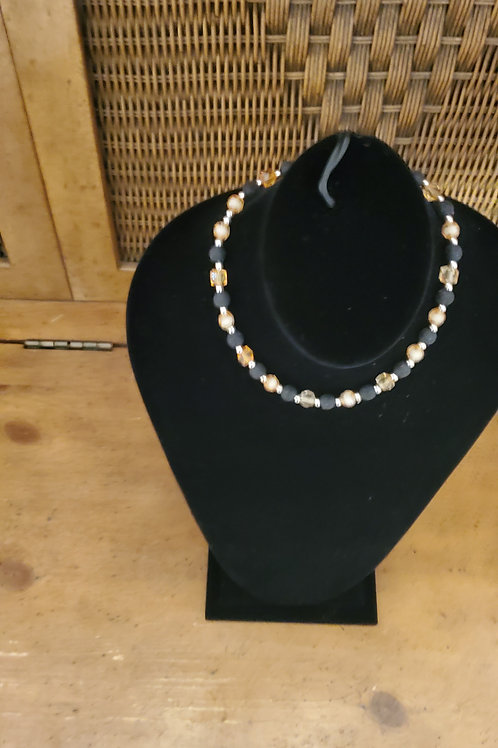 Small multi bead necklace