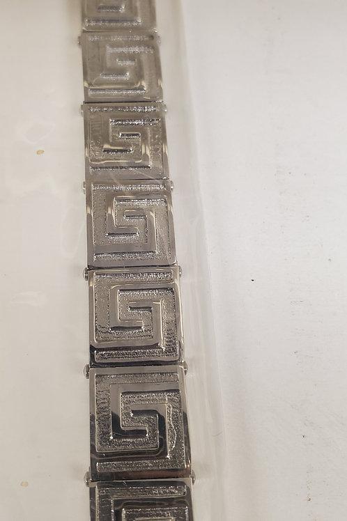 Greek Link Stainless Steel Bracelet