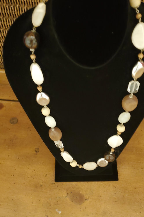 Multi large bead necklace