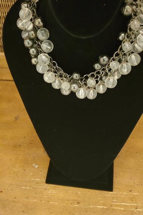 Elegant multi clear bead necklace