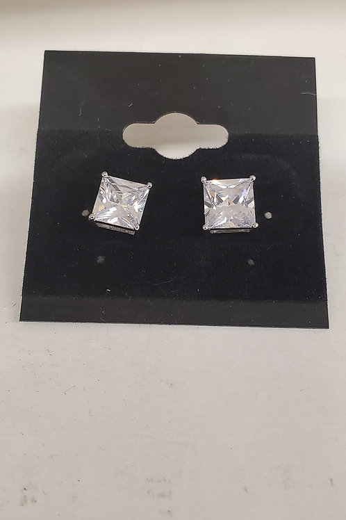 6 ct cubic zirconia studs stainless steel post