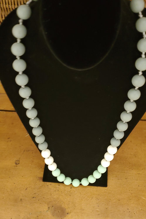 Long large bead necklace