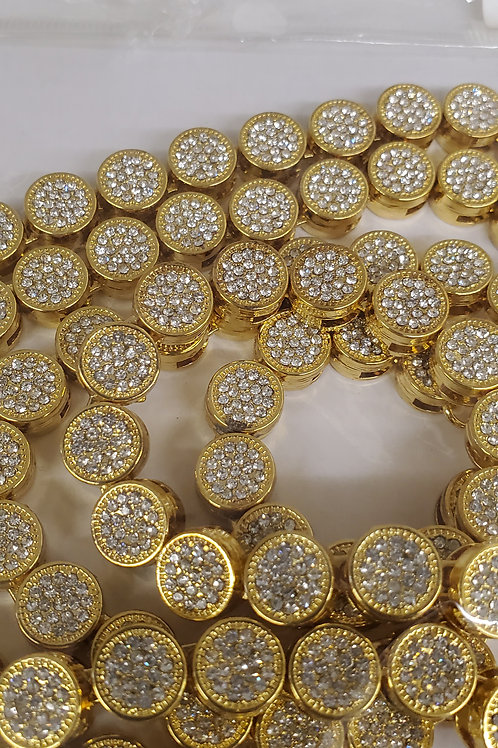 """Pave Gold Chain - 36"""""""