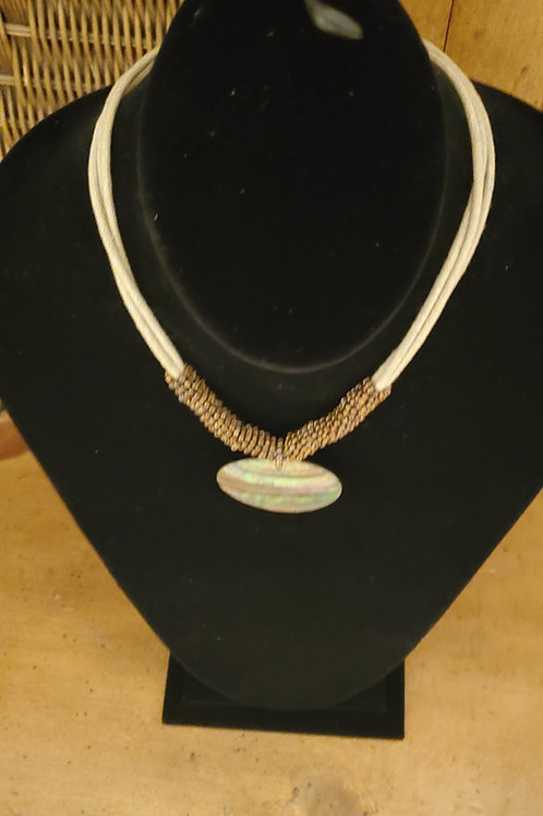 Natural material necklace