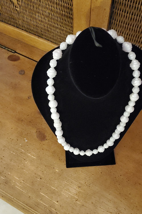 Shell bead type necklace