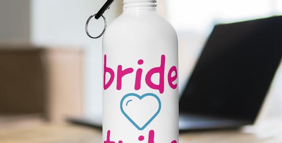 bride tribe heart Stainless Steel Water Bottle