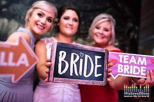 wedding team bride and bride props