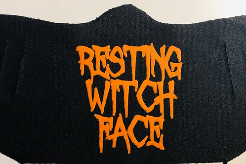 Resting Witch Face Halloween  - Easy Breather Mask