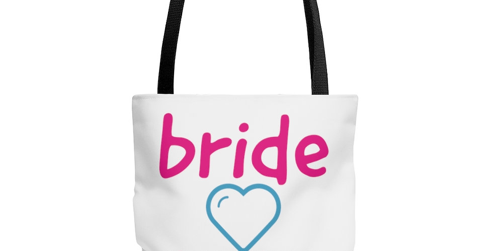 bride tribe - heart Tote Bag