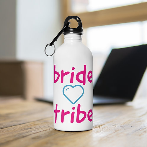 bride tribe heart Stainless Steel Water Bottle