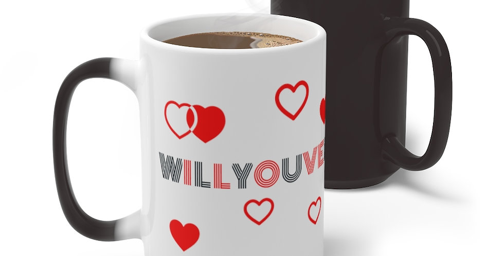 Marriage Proposal Color Changing Mug