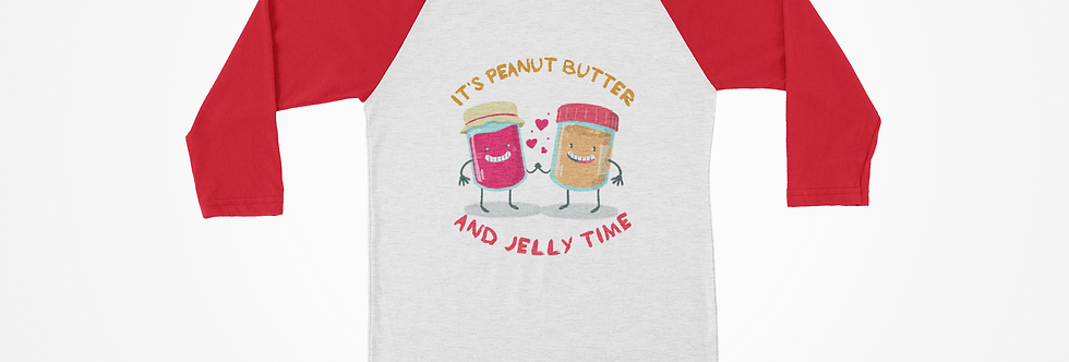 Peanut Butter Jelly Time Raglan Tee