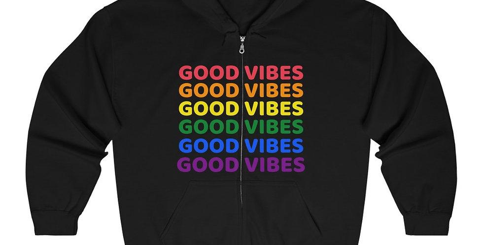 Good Vibes Full Zip Hooded Sweatshirt