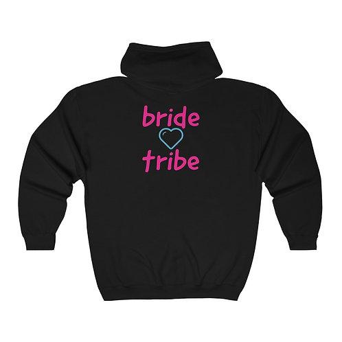 bride tribe heart Full Zip Hooded Sweatshirt