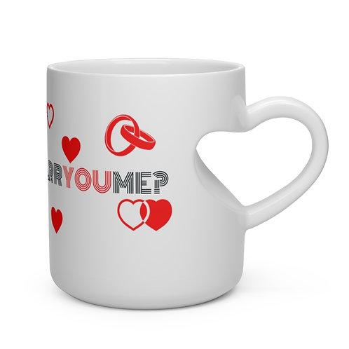 I Love You, Will You Marry Me. Heart Shape Mug
