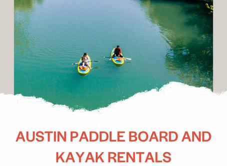Paddle Board and Kayak Rentals in Austin