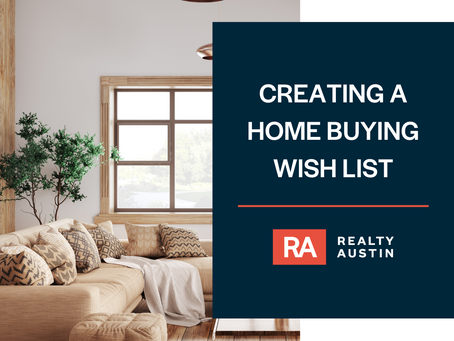 Creating a Home Buying Wishlist