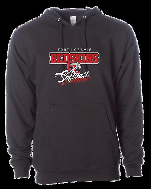 Softball | Poly/Fleece Hooded Sweatshirt