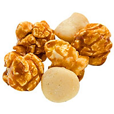 Salted macadamia nuts  with  Hawaiian Caramel Crisp