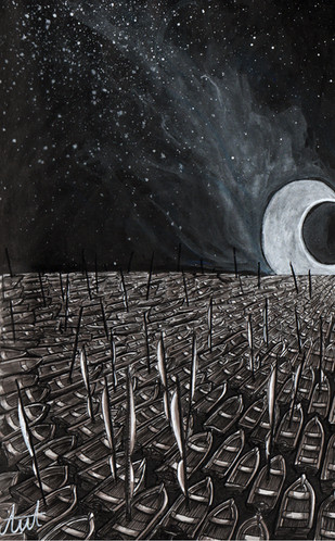 The fall of the moon