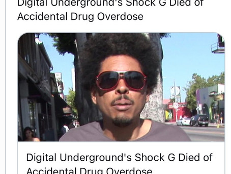 SHOCK G DIED OF A OVERDOSE