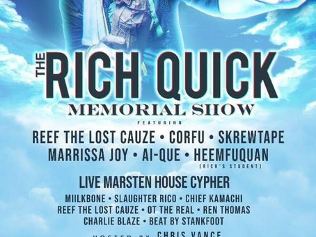 The RICH QUICK MEMORIAL  SHOW OCTOBER 12 PHILADELPHIA PA