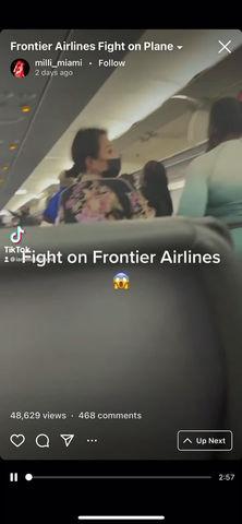 Airplane brawl caught on video shocks passengers