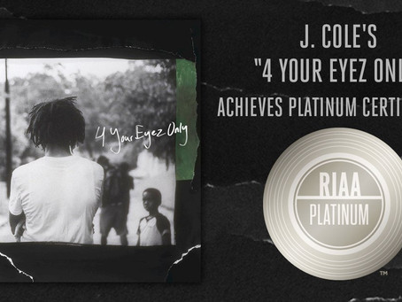 Deja Vu: J. Cole Goes Platinum With No Features...Again