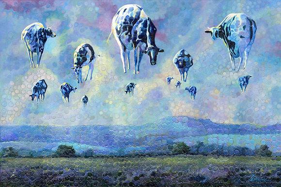 """Cow Ballons  36""""x54"""""""