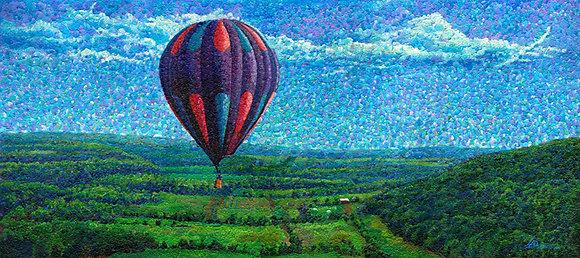 """Balloon Ride 24""""x54"""""""