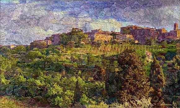 """Tuscany Landscape  24""""x40"""""""