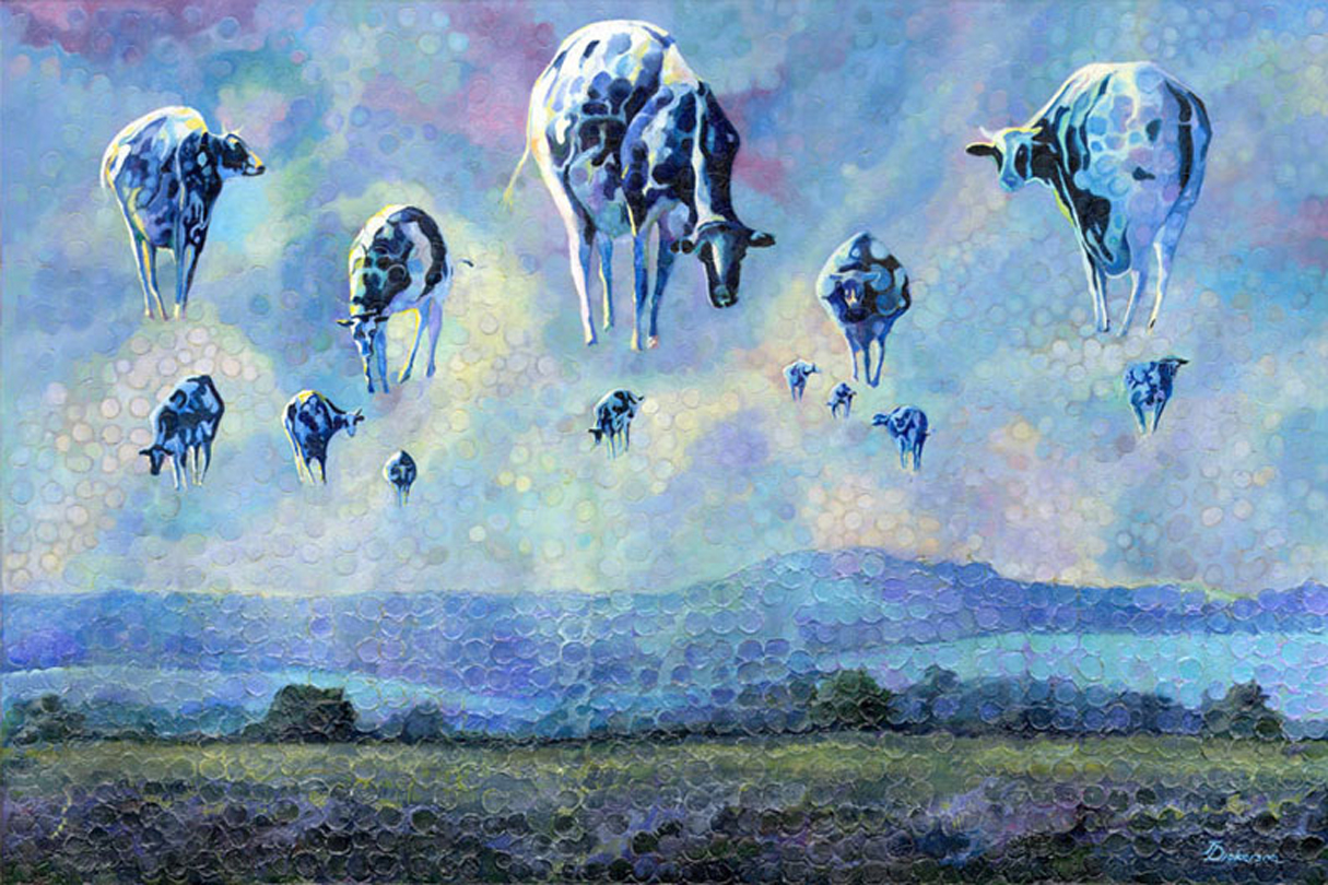 """Cow Balloons""  36""x54"""