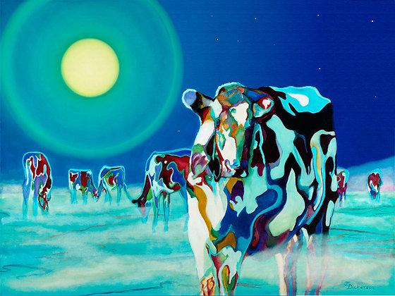 "Moon Cows 30""x40"""