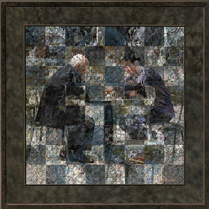 "Chess Match - Print on Canvas 30""x30"""