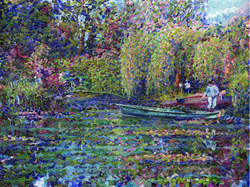 """Monet's Lily Pond""  30""x40"""