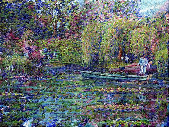 "Monet's Lily Pond 30""x40"""