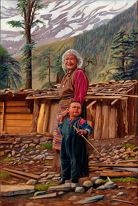 Old Woman & Child 24x36