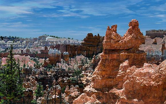 """Bryce Landscape  30""""x 48"""""""