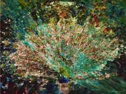 """Peacock""  30""x40"" Oil on Canvas"