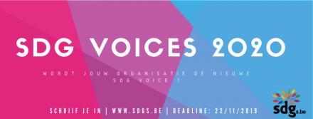 Wordt jouw organisatie de nieuwe SDG Voice 2020?