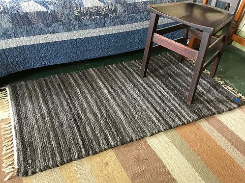 Boblink Farm Wool Rugs - Grays w/Fringe