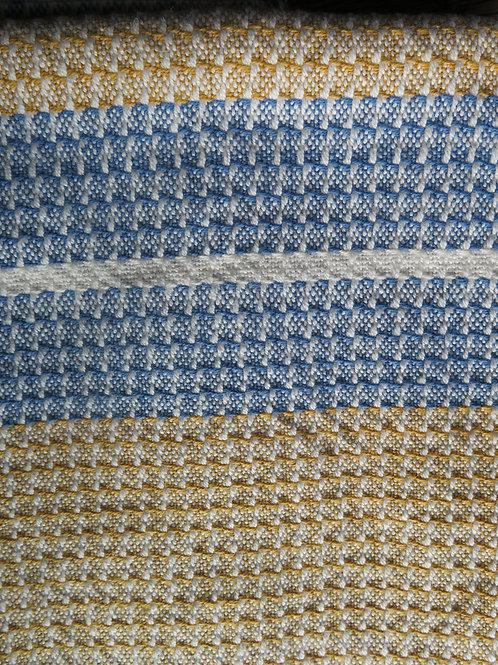 Cotton Dishtowel - Gold & Blue