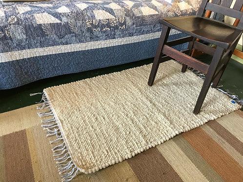 Bobolink Farm Wool Rugs - Natural w/Fringe