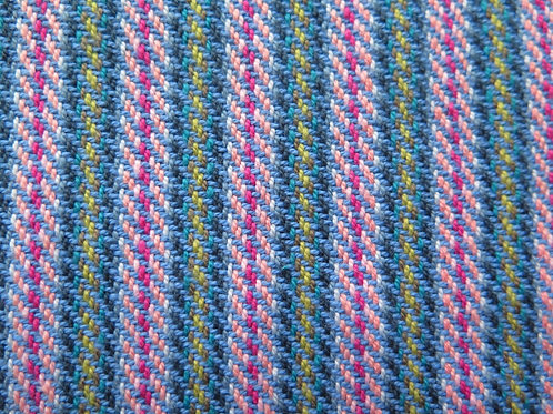 Blue & Pink Stripe Dishtowel