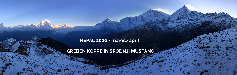 Razgled na Anapurne in Daulagiri.