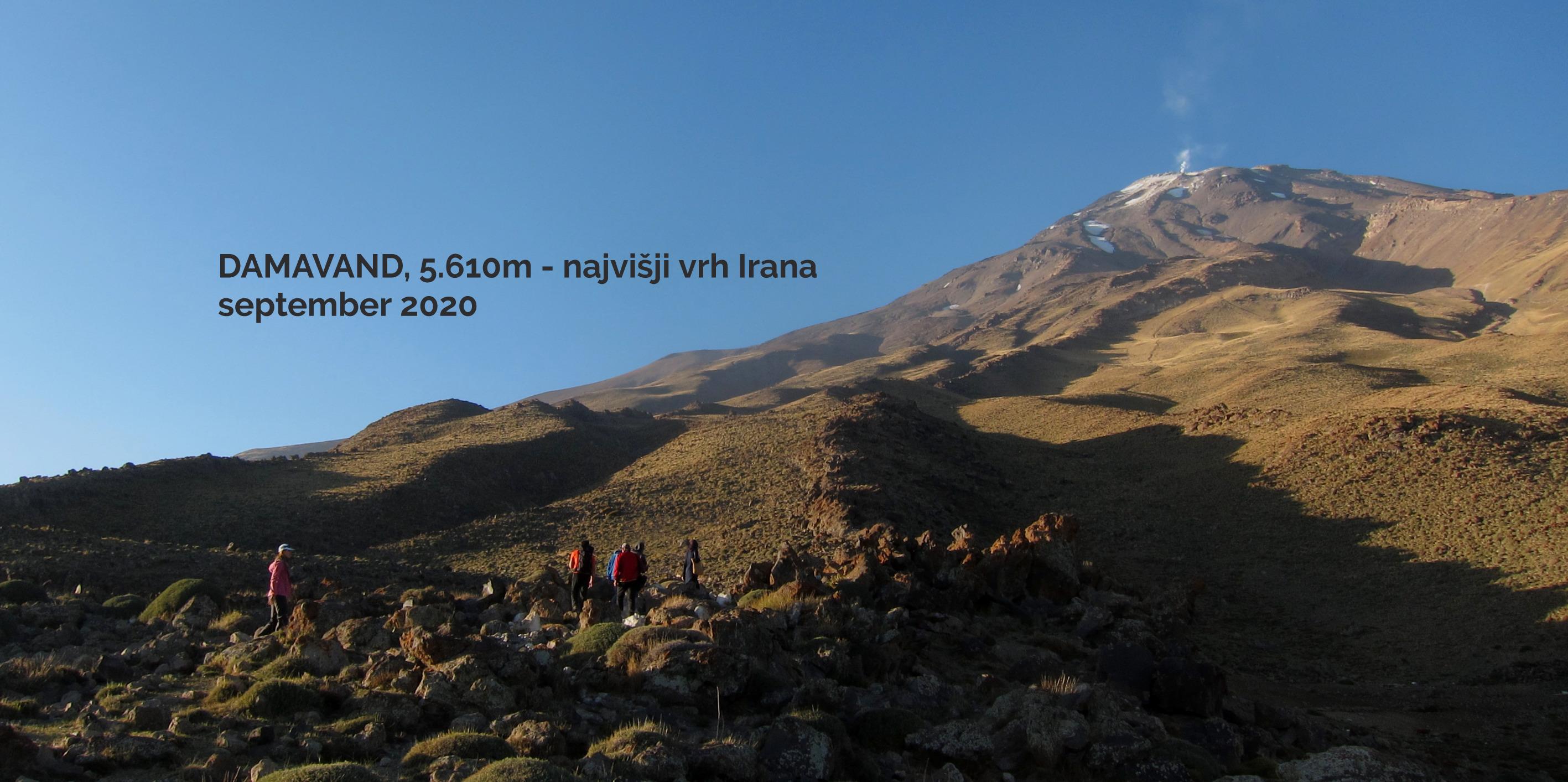 Potovanje v Iran, vzpon na Damavand