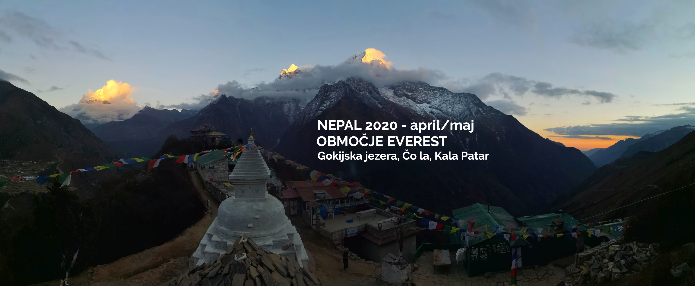 Treking Everest: večerni Mong la.