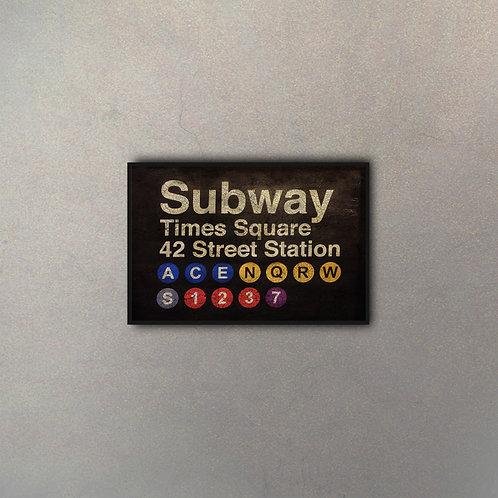 Cartel Subway Efecto Añejo