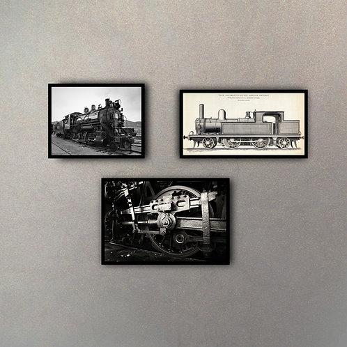Set Ferrocarril (3 Cuadros)